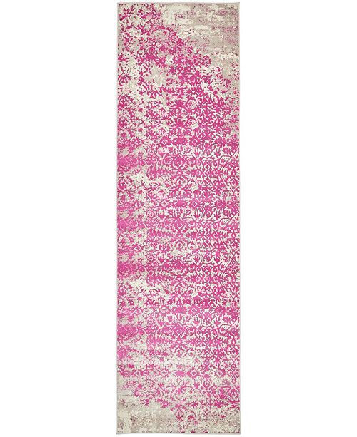 Bridgeport Home Ismay Ism4 Pink 3' x 10' Runner Area Rug