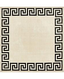 Anzu Anz2 Beige/Black 8' x 8' Square Area Rug