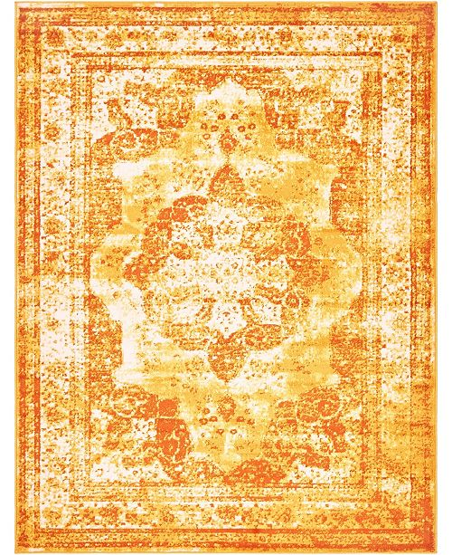 Bridgeport Home Basha Bas2 Orange 9' x 12' Area Rug