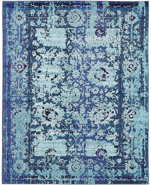 Bridgeport Home Sana San4 Turquoise 8' x 10' Area Rug