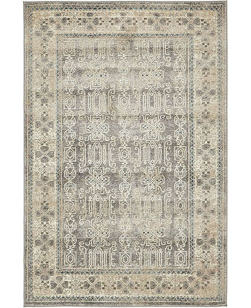 Bridgeport Home Bellmere Bel1 Gray 4' x 6' Area Rug