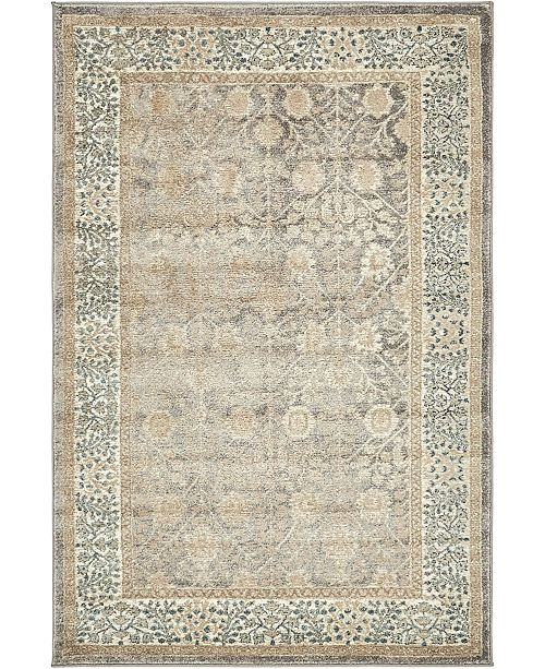 Bridgeport Home Bellmere Bel3 Gray 4' x 6' Area Rug