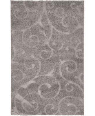 Malloway Shag Mal1 Dark Gray 5' x 8' Area Rug