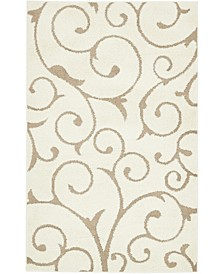 Malloway Shag Mal1 Ivory/Light Brown 5' x 8' Area Rug