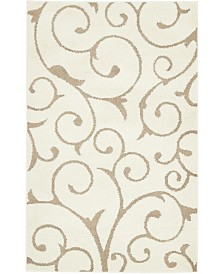 Bridgeport Home Malloway Shag Mal1 Ivory/Light Brown 5' x 8' Area Rug