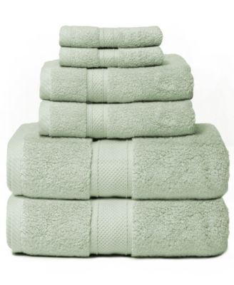 Hotel Zero Twist 6-Piece 100% Cotton Bath Towel Set