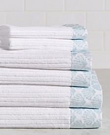 Sparkle Shell 6-Piece 100% Cotton Bath Towel Set