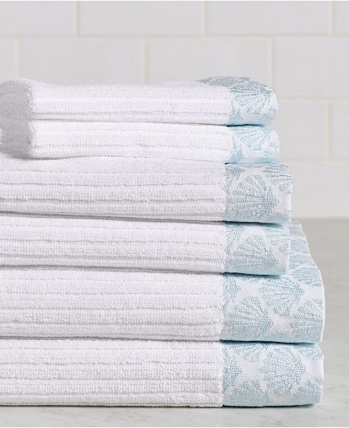 Cobra Sparkle Shell 6-Piece 100% Cotton Bath Towel Set