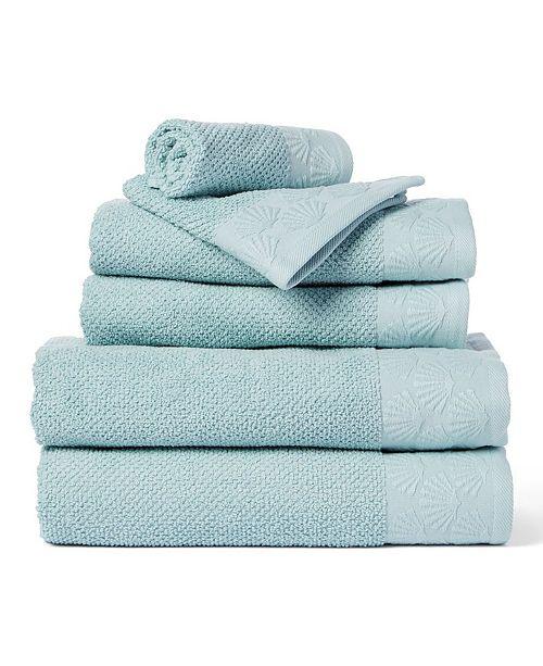 Cobra Coastal Shell 6-Piece 100% Cotton Bath Towel Set
