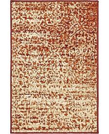 Jasia Jas08 Terracotta 2' x 3' Area Rug