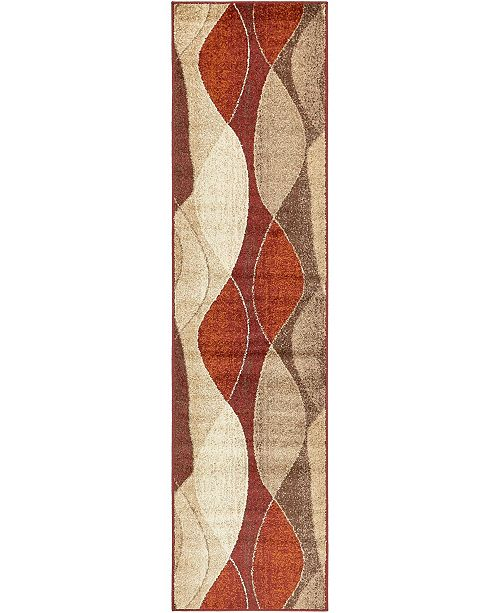 "Bridgeport Home Jasia Jas04 Multi 2' 6"" x 10' Runner Area Rug"
