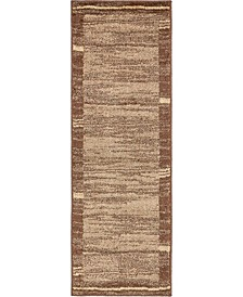 Jasia Jas11 Brown 2' x 6' Runner Area Rug