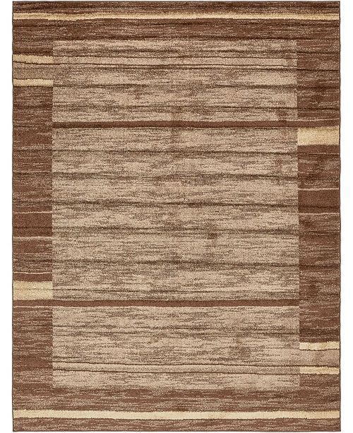 Bridgeport Home Jasia Jas11 Brown 9' x 12' Area Rug