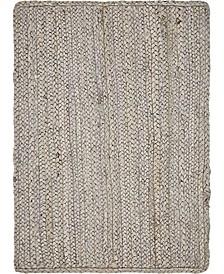 Braided Jute B Bjb5 Gray 2' x 3' Area Rug