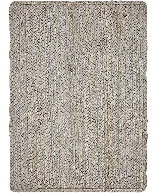 Bridgeport Home Braided Jute B Bjb5 Gray 2' x 3' Area Rug