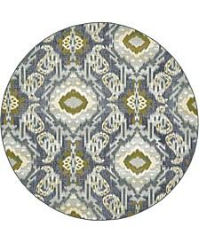 Pashio Pas8 Blue 8' x 8' Round Area Rug