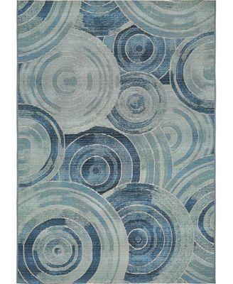 Pashio Pas1 Light Blue 4' x 6' Area Rug