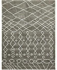 Fazil Shag Faz2 Gray 9' x 12' Area Rug