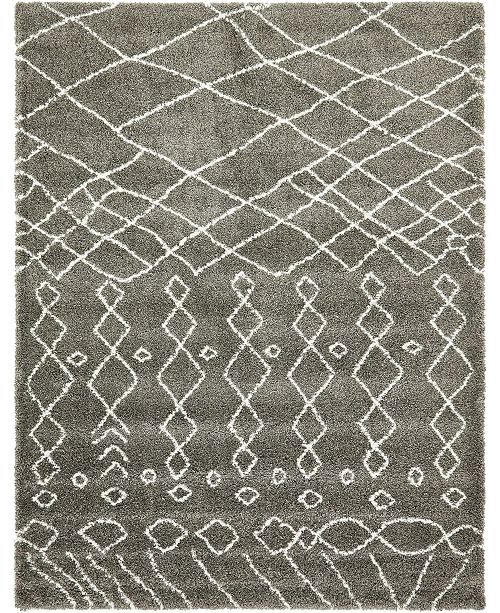 Bridgeport Home Fazil Shag Faz2 Gray 9' x 12' Area Rug