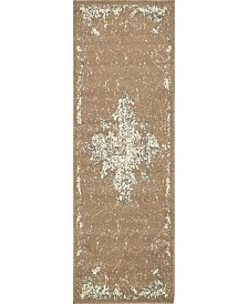 Bridgeport Home Tabert Tab7 Brown 2' x 6' Runner Area Rug