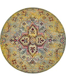 Bridgeport Home Brio Bri1 Yellow 8' x 8' Round Area Rug