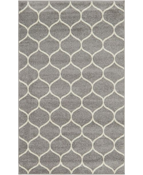 Bridgeport Home Plexity Plx2 Light Gray 5' x 8' Area Rug