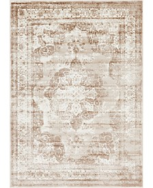 Bridgeport Home Basha Bas2 Beige 7' x 10' Area Rug