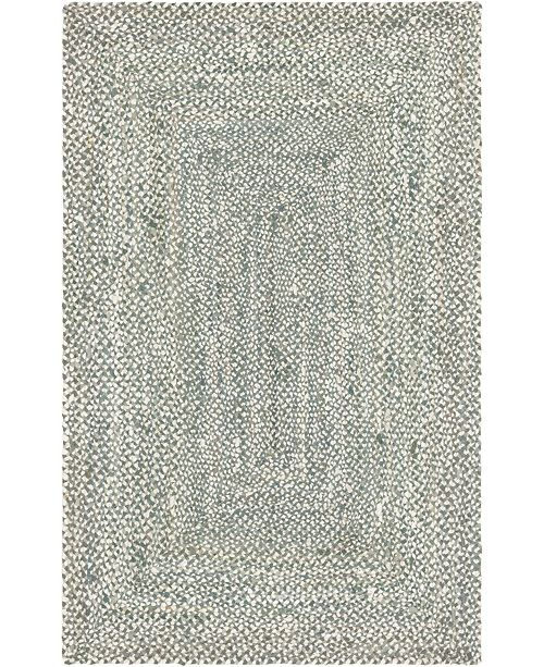 Bridgeport Home Roari Cotton Braids Rcb1 Gray 5' x 8' Area Rug