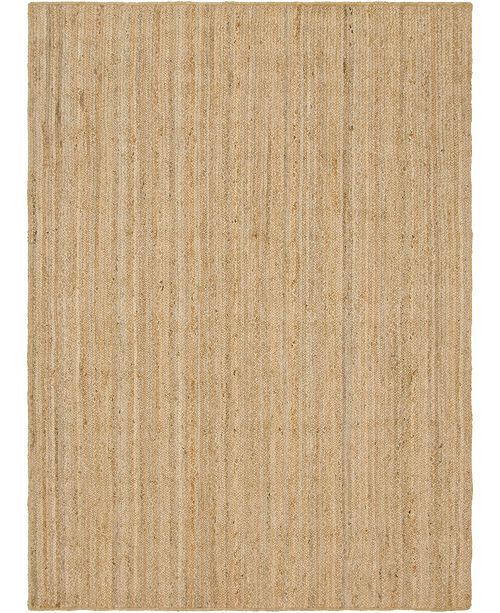 Bridgeport Home Braided Jute C Bjc5 Natural 7' x 10' Area Rug