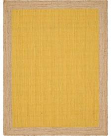 Braided Jute A Bja4 Yellow 9' x 12' Area Rug