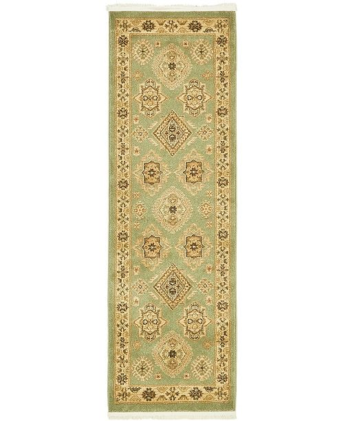Bridgeport Home Harik Har8 Light Green 2' x 6' Runner Area Rug