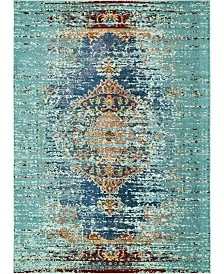 Bridgeport Home Brio Bri6 Turquoise 9' x 12' Area Rug