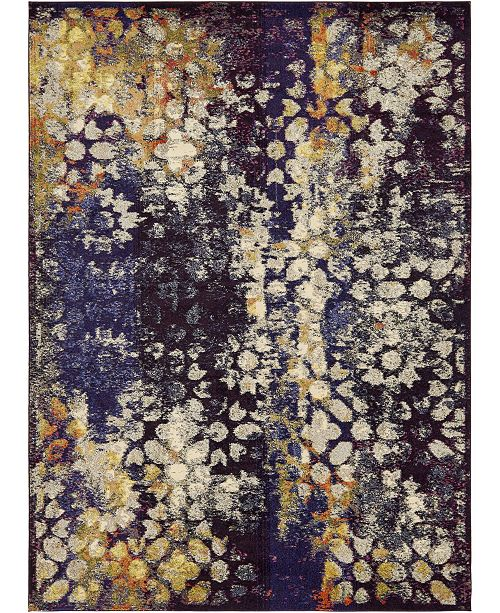 Bridgeport Home Brio Bri1 Navy Blue 9' x 12' Area Rug