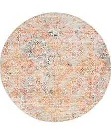 Agostina Ago3 Multi 8' x 8' Round Area Rug