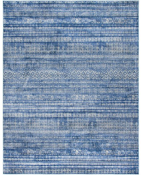 Bridgeport Home Haven Hav2 Navy Blue 8' x 10' Area Rug