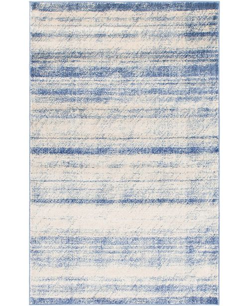 Bridgeport Home Haven Hav3 Blue 5' x 8' Area Rug