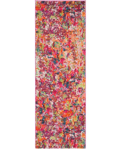 "Bridgeport Home Crisanta Crs1 Magenta 2' 2"" x 6' Runner Area Rug"