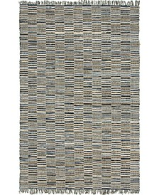 Jari Checkered Jar3 Blue 6' x 9' Area Rug