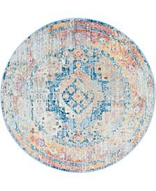 Nira Nir5 Blue 5' x 5' Round Area Rug
