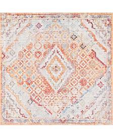 Zilla Zil1 Orange 8' x 8' Square Area Rug