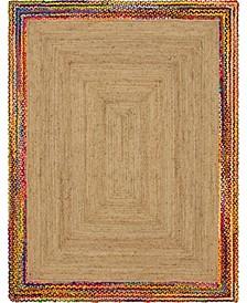 Chindi Border Chb2 Natural 8' x 10' Area Rug