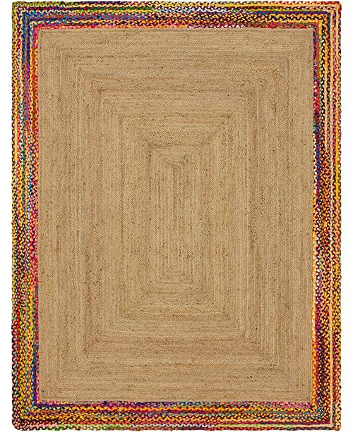 Bridgeport Home Chindi Border Chb2 Natural 8' x 10' Area Rug