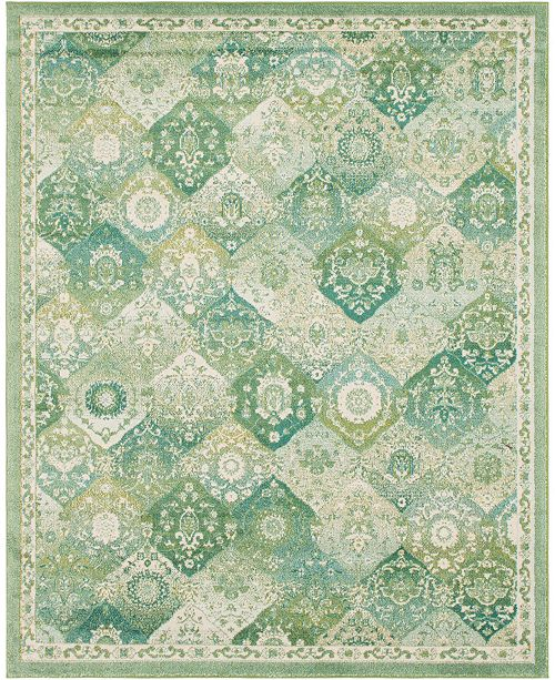 Bridgeport Home Lorem Lor2 Green 8' x 10' Area Rug