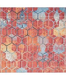 Bridgeport Home Prizem Shag Prz1 Red 8' x 8' Square Area Rug