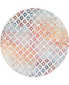 Prizem Shag Prz2 Multi 6' x 6' Round Area Rug