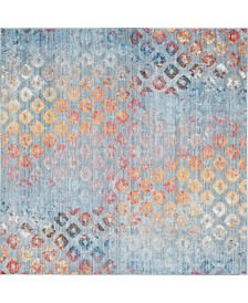 Bridgeport Home Prizem Shag Prz2 Blue 8' x 8' Square Area Rug