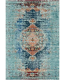 Bridgeport Home Brio Bri6 Turquoise 7' x 10' Area Rug