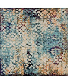 Brio Bri1 Blue 6' x 6' Square Area Rug