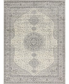 Bridgeport Home Mobley Mob1 Light Gray 9' x 12' Area Rug