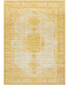 Bridgeport Home Mobley Mob1 Yellow 9' x 12' Area Rug